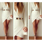 Hot Women Bandage Bodycon Long Sleeve Evening Sexy Party Cocktail Mini Dress USJ