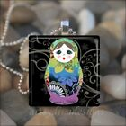 BABUSHKA DOLL MATRYOSHKA RUSSIAN STACKING DOLLS GLASS PENDANT NECKLACE design 3