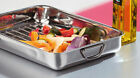 NEW Stainless Steel Roasting Tray with Rack & Handles Small/Medium/Large