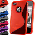 S-Line Silicone Rubber Gel TPU Wave Back Case Cover For Apple iPhone 4 4S 5 5S