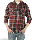 STEVEN ALAN Red Plaid & Houndstooth Long Sleeve Reversible Shirt MST49DG NWT