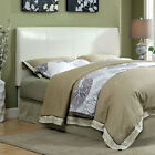 Villa Contemporary Style White Leatherette Upholstered Headboard