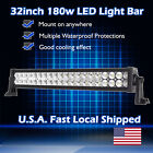 32Inch 180w LED Light Bar Spot Flood Work Lamp 4WD Boat UTE Driving ATV Jeep Car