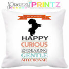 PERSONALISED DOG BREED BICHON FRISE HISTORY CUSHION PET GIFT CHRISTMAS BIRTHDAY