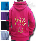 HORSE RIDING HOODIE ADULT`S Equestrian HOODIE Filthy Filly BACK PRINT