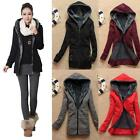 Chic Women Winter Warm Parka Cotton Slim Zipper Hoodie Jacket Coat M L XL - LJ