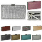 Ladies Fashion Designer Diamante Crystal Clutch Evening Bags Women's Bridal Bag