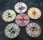 10/20/50 Mixed Wooden Buttons Vintage Clocks Union Jack 20mm diameter 2 holes