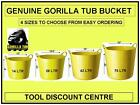 YELLOW GORILLA MONKEY FLEXI BUCKET BUILDERS STORAGE TUB 14LTR 26LTR 42LTR 75LTR