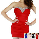 Fashion Sexy Women Lady Strapless Mini Evening Dress Cocktail Prom Party Dresses