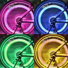 SAFETY BIKE BICYCLE MOTOR CAR TIRE TYRE LED NEON VALVE DUST CAP SPOKE LIGHT