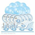 BLUE UMBRELLAPHANTS - Essential Baby Shower Party Pack Buffet Tableware Kit Boy