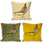 Paoletti Hunter Velvet Pheasant Cushion Cover