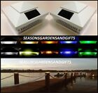 Solar Post Cap Deck Fence Color LED Lights 5x5 or 6x6 White Colored 12 Pack