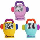 Gummee Glove Baby Teething Mitten Silicone Purple Heart Shape Teether Ring Toy