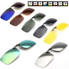 New Polarized Day Night Vision Clip-on Lens Driving Glasses Sunglasses Myopic