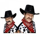 Cowboy Mustache Fake Funny Adult Halloween Fancy Dress