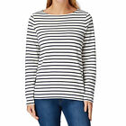 Joules Long Sleeved Boat Neck  Top Womens  Jersey - Cream Stripe