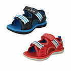 "Clarks Doodles Boys Navy or Red  Sandals ""PIRANHA BOY""  F-Fitting"