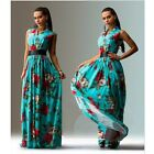 Women Long Boho Casual Beach Floral Party evening Tunic Mexican Gypsy Dresses