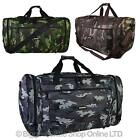 NEW Mens Large Camouflage HOLDALL Bag by Hi-Tec Spacious GYM TRAVEL 3 Colours