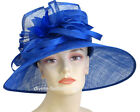 Women's Church Hat, Kentucky Derby Hat - Royal, Purple, Brown - 1407