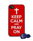 Keep Calm and Pray On Christian Faith - Case for iPhone 4 & 4s, Cell Cover