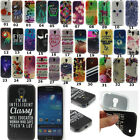 Hybrid Paint Patterned Soft TPU Rubber Back Case Cover For Samsung Smart Phones