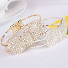 Charm Women Bracelet 18K Gold Plated Crystal Bowknot Bangle Fashion
