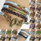 One direction bracelet antique metal charm bracelet multi-strand hope