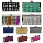 Ladies Sparkle Diamante Evening Bags Women's Fashion Clutch Wedding Party Bag 81