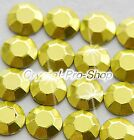Yellow Iron On Faceted Hot Fix Rhinestuds Flatback Shine Gems 2mm 3mm 4mm 5mm