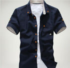 LA49 Korean Men's Fashion Short Sleeve Fitted Tops Handsome Casual T-shirt US49