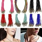 """10/25x Cotton Waxed Rubber Necklace Cords 18"""" 20""""  + Lobster Clasp for Pendant"""