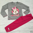 New Disney Minnie Mouse girls grey & pink  long pyjamas nightwear sleepwear