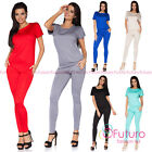 Casual Full Length Jumpsuit Boat Neck Short Sleeve Party Playsuit Size 8-18 FM07