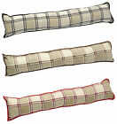 Decorative Door Draught Stop Excluder Soft Cushion Traditional Warm Argyle Check
