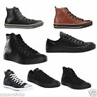 Converse All Star Unisex Leather Hi Tops Mens Womens Lo Tops Trainers Shoes