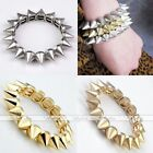 Gothic Punk Metal Rivet Spike Stud Stretchy Bracelet Bangle Rock Jewelry Gift