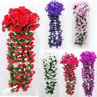 Garland Silk Wedding Home Garden Violet Bracketplant Flowers Arch Decor 6 Color