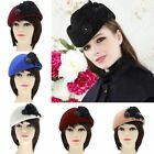 Vintage Feather Women Ladies Girls Cashmere French Berets Beanie Slouch Hat Cap