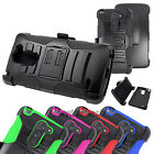 For LG G3 Stylus Rugged Hybrid Stand Holster Swivel Clip Case Heavy Duty Cover