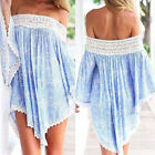 Womens Boho Beach Dress Swimwear Lace Crochet Bikini Cover Up Bathing Suit Smock