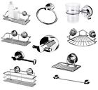 Stainless Steel Rust Free Gecko Bathroom Suction Lock Range Bath Accessory Set