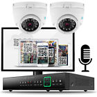 2 x HD 720P 1.3MP 20M IR 4 Channel AHD P2P QR Plug & Play CCTV System 1 Ch Audio