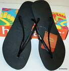 HAVAIANAS NEW BLACK SLIM LADIES THONGS FLIP FLOPS assorted sizes