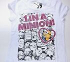 "New Minions Despicable Me girls shirt ""one in a Minion"" white size Small 6/6X"