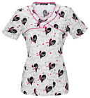 Love To Inspire HEARTSOUL I Pink I Love You Mock Wrap Scrub Top 20900 LINS