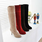 TOP Designed HOT Sexy Faux Suede Ladies/Girl's High Heels Boots US Size:5-8.5