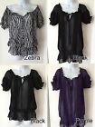 Miley Cyrus Max Azria Tunic Top Black Purple Zebra S M L XL Sexy Sheer New Tags